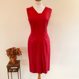 Talbots Red Sheath Dress